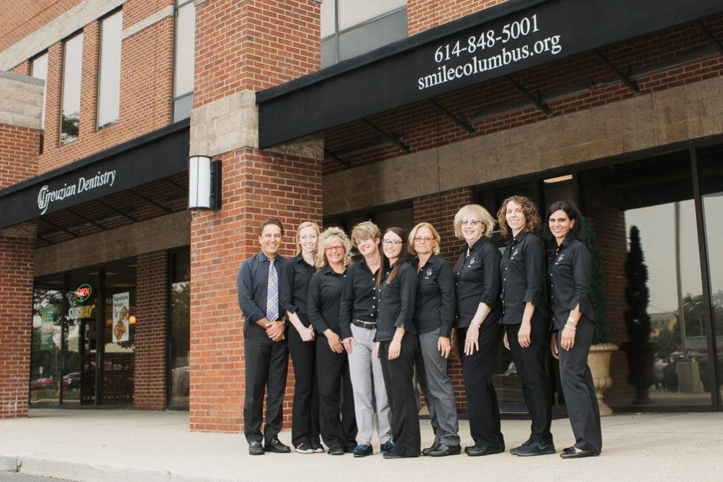 Our Columbus dental team in front of their office building