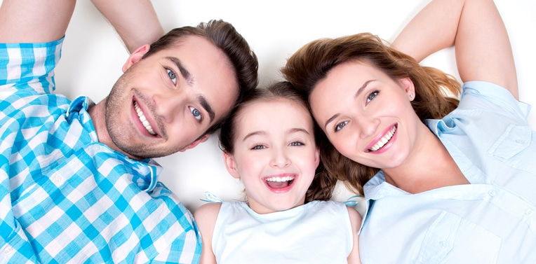 Family with great smiles because of the Family Dentistry in Columbus