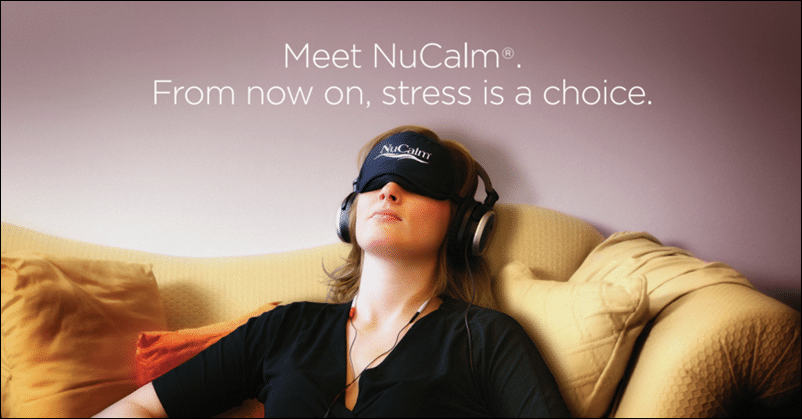 A woman using the new calm device