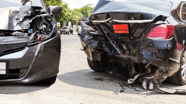 An accident like this between two cars can cause you to need reconstructive dentistry